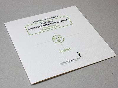 Einladungskarte Brian Mandell – Advanced Negoticiation Skills