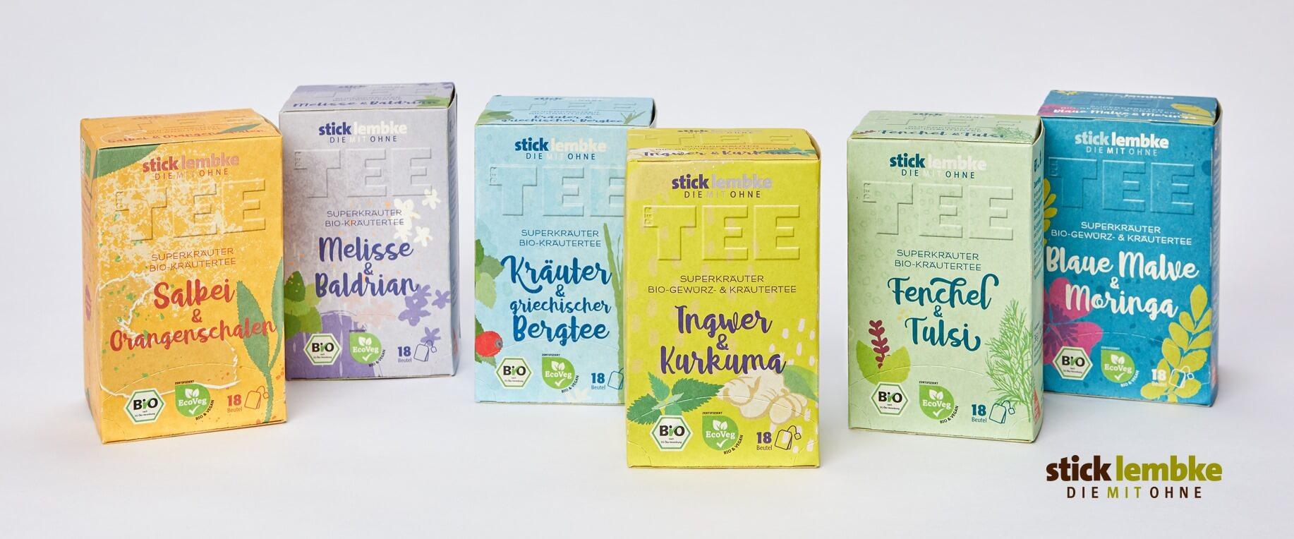 Alle Superkräuter des Hamburger Tee-Unternehmens stick&lembke